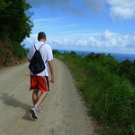 Start of the hike, near the top of Belvedere, North Shore in St Croix.